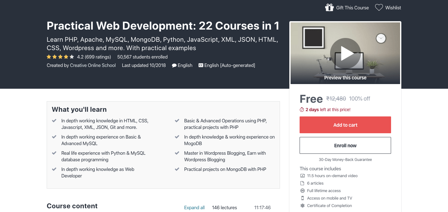 Free Web Development Certification Course