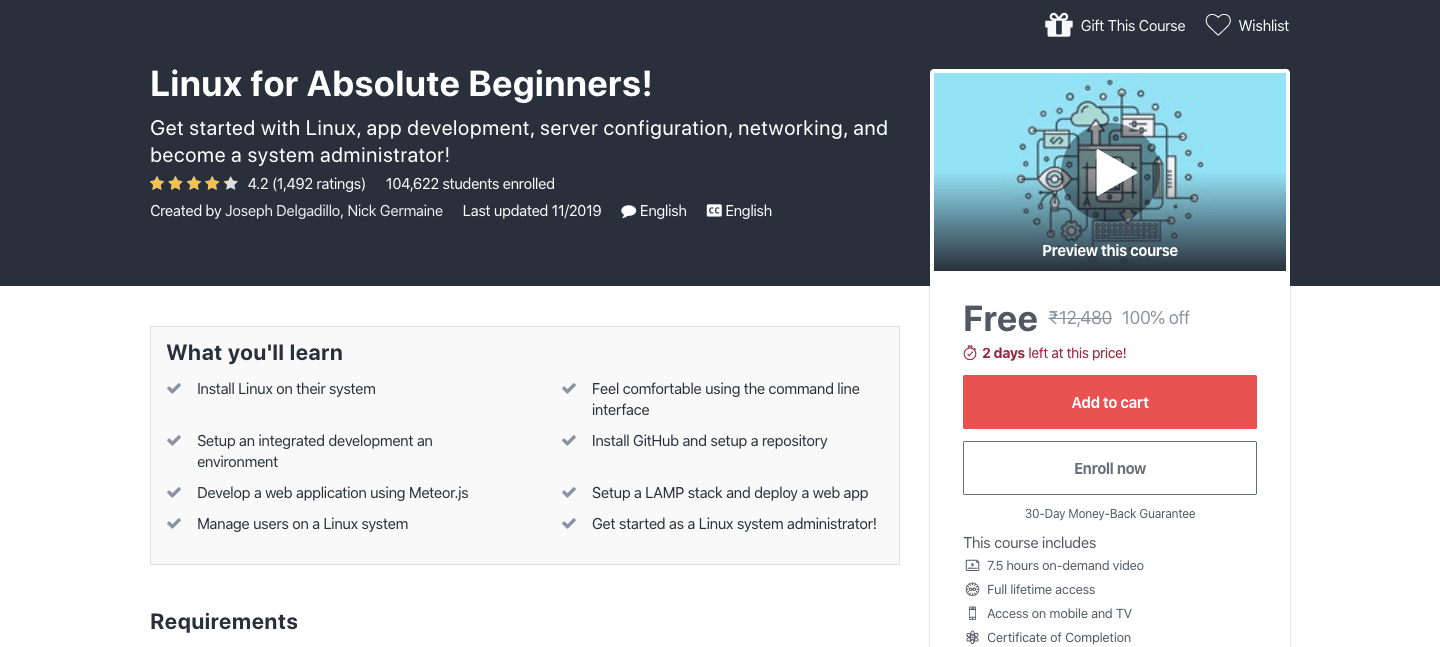 Free Linux Certification Course
