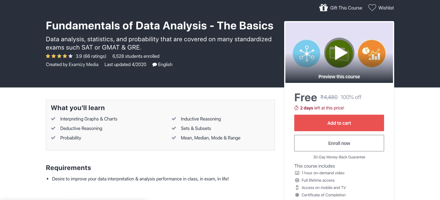 Free Fundamentals of Data Analysis Certification Course ...