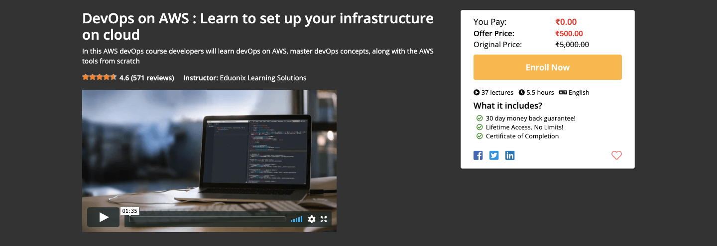 Free DevOps on AWS Certification Course
