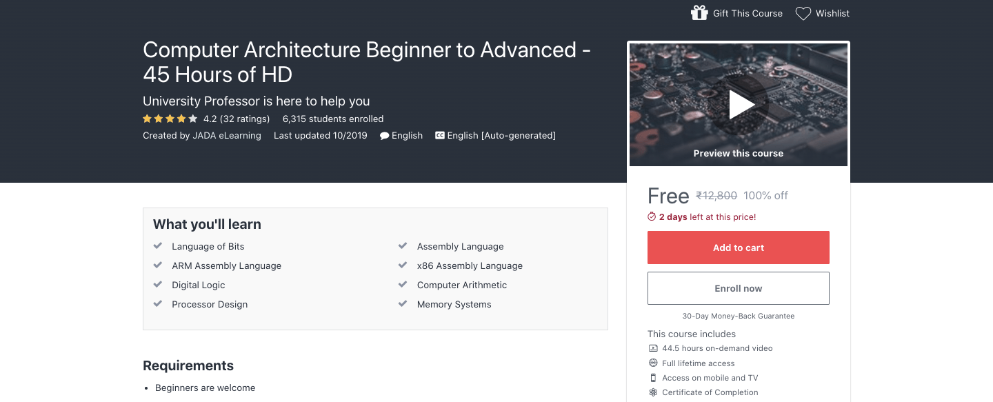 Free Computer Architecture Certification Course Beginner To Advanced