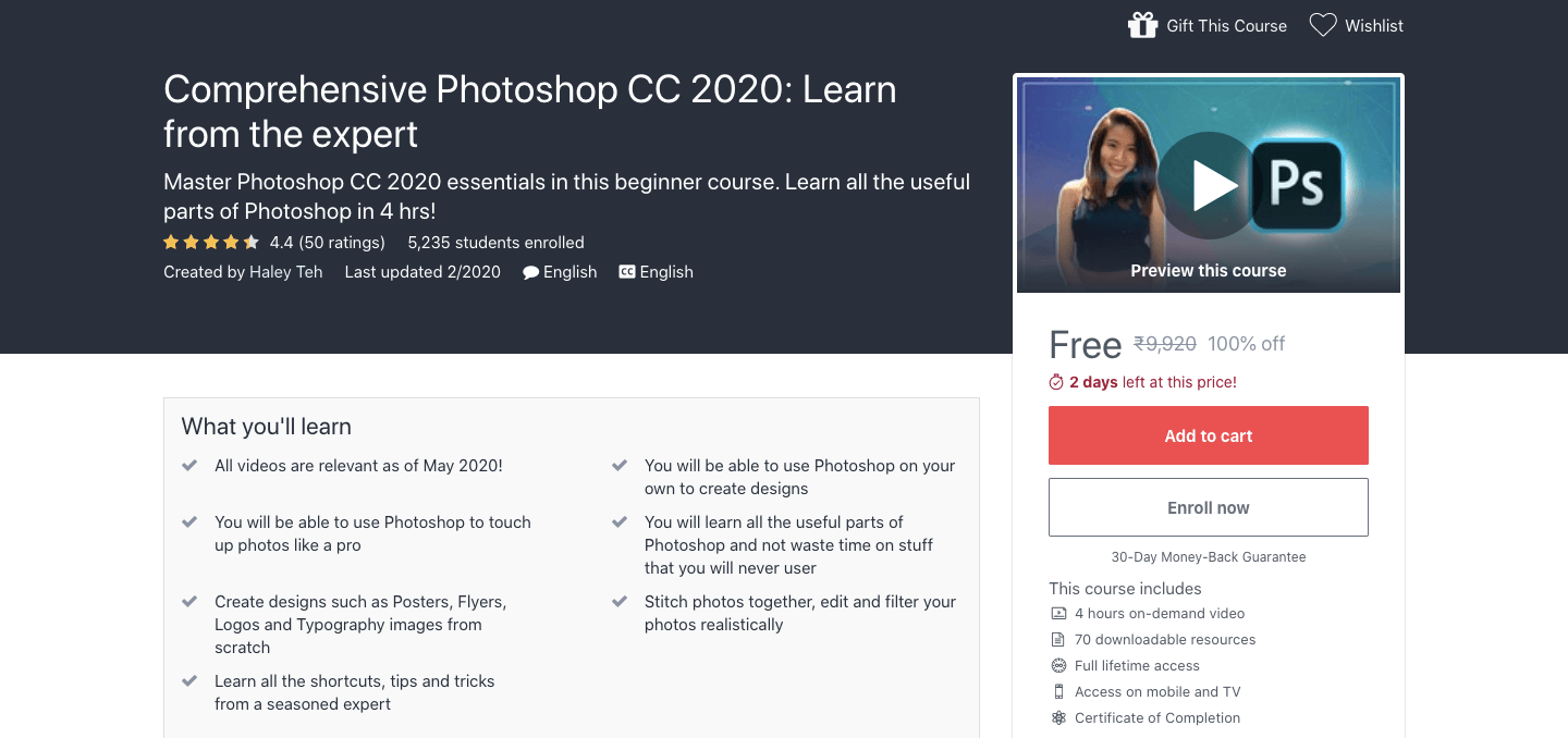 Comprehensive Photoshop CC 2020: Learn from the expert