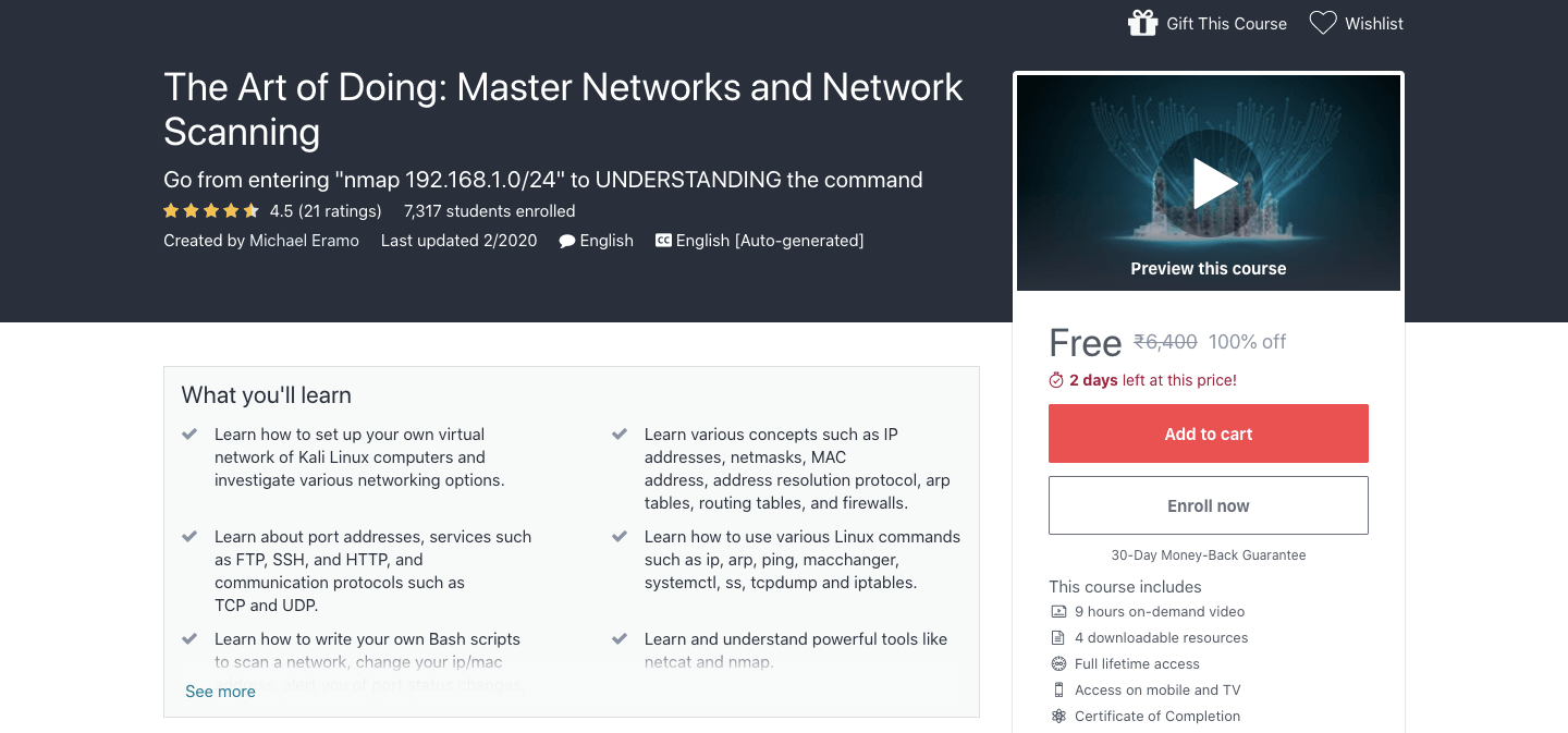 The Art of Doing: Master Networks and Network Scanning