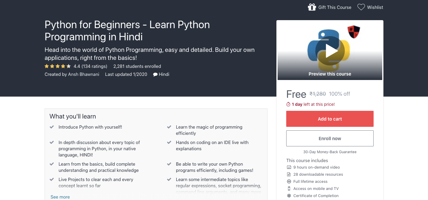Python for Beginners - Learn Python Programming in Hindi