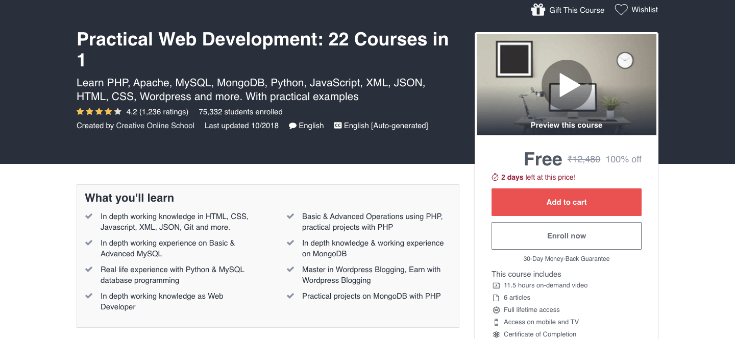 Practical Web Development: 22 Courses in 1