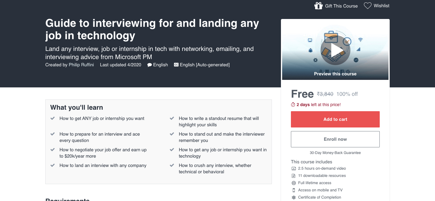 Guide to interviewing for and landing any job in technology