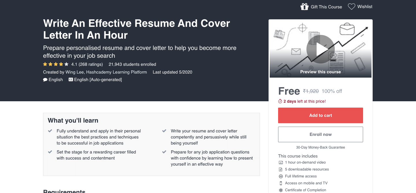 Write An Effective Resume And Cover Letter In An Hour
