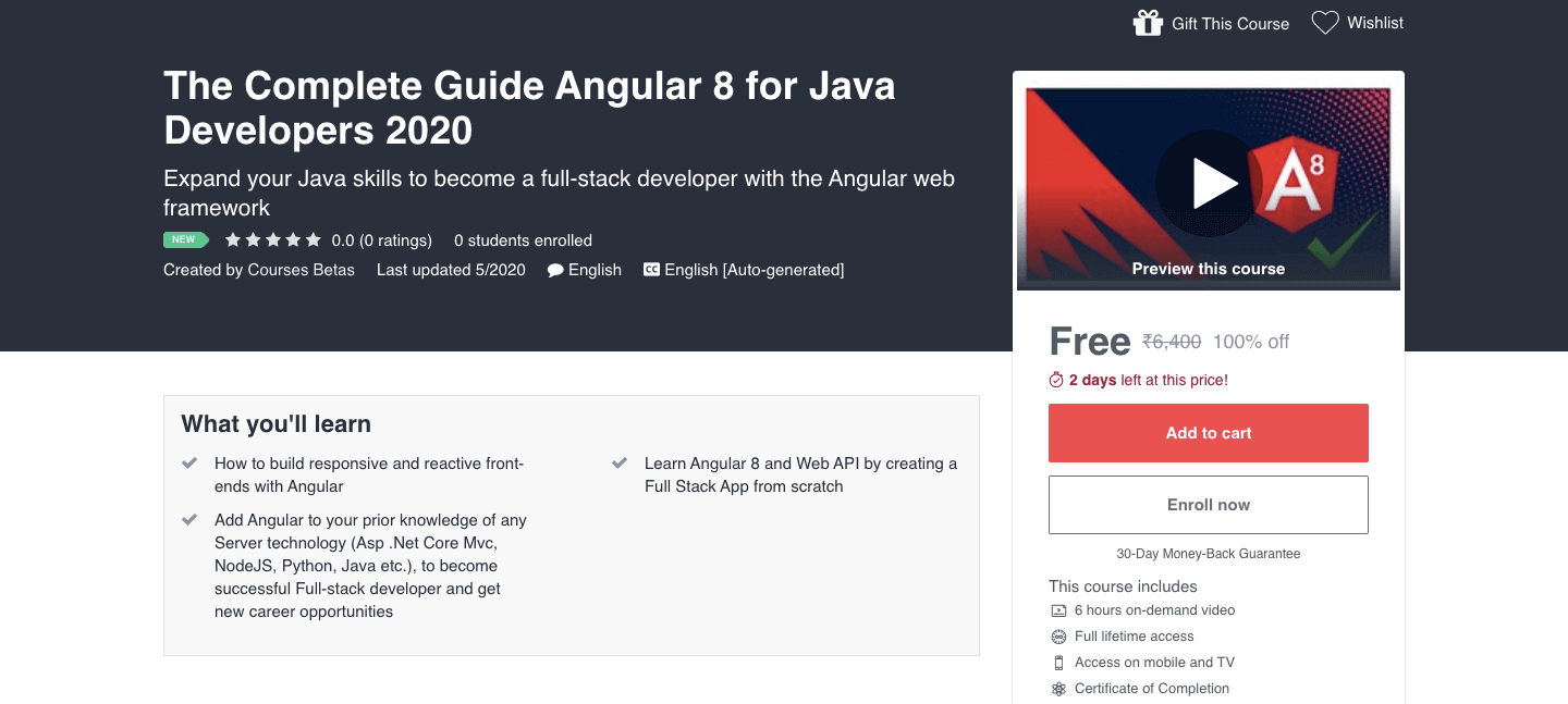The Complete Guide Angular 8 for Java Developers 2020