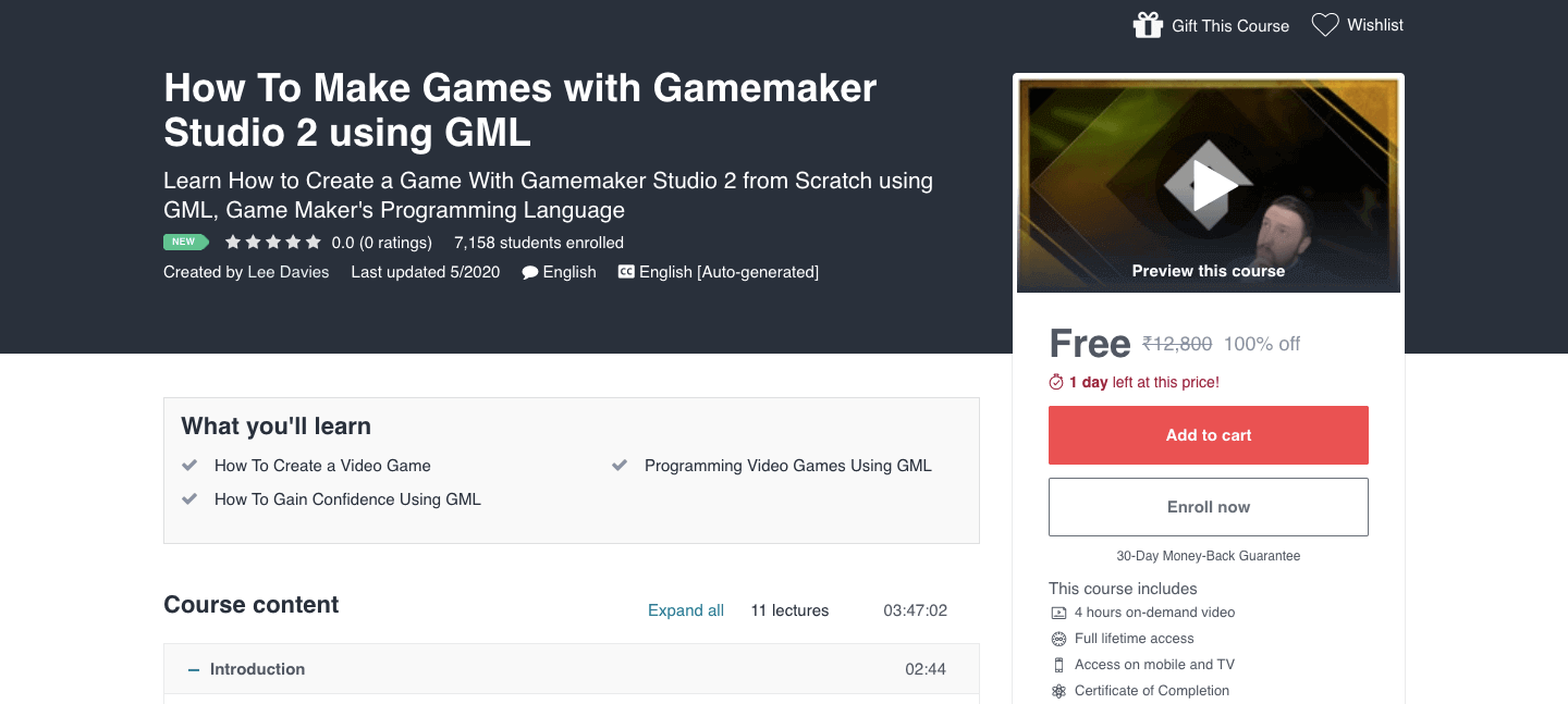 How To Make Games with Gamemaker Studio 2 using GML
