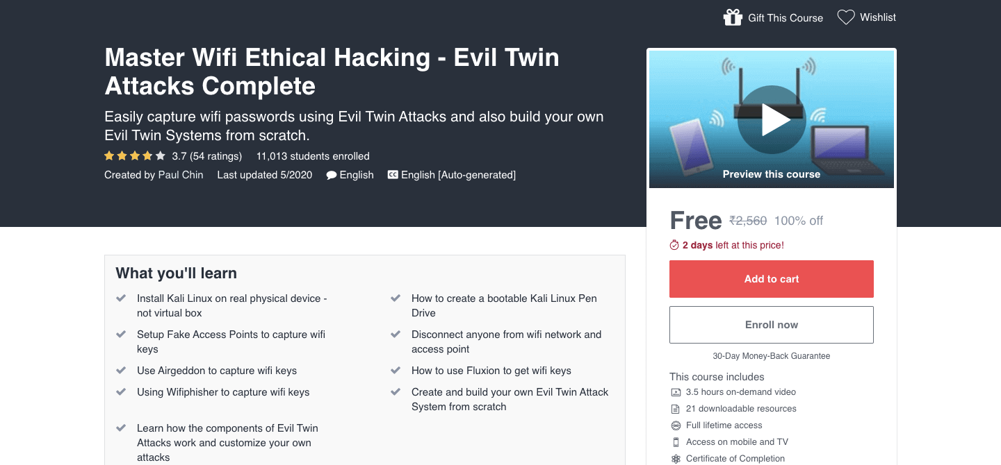 Master Wifi Ethical Hacking - Evil Twin Attacks Complete