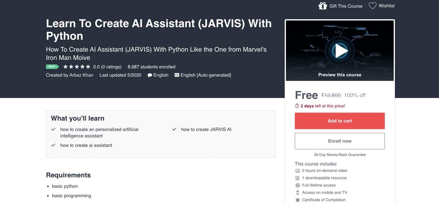 Learn To Create AI Assistant (JARVIS) With Python