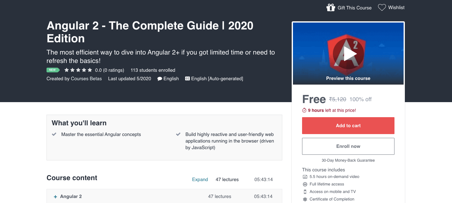 Angular 2 - The Complete Guide | 2020 Edition