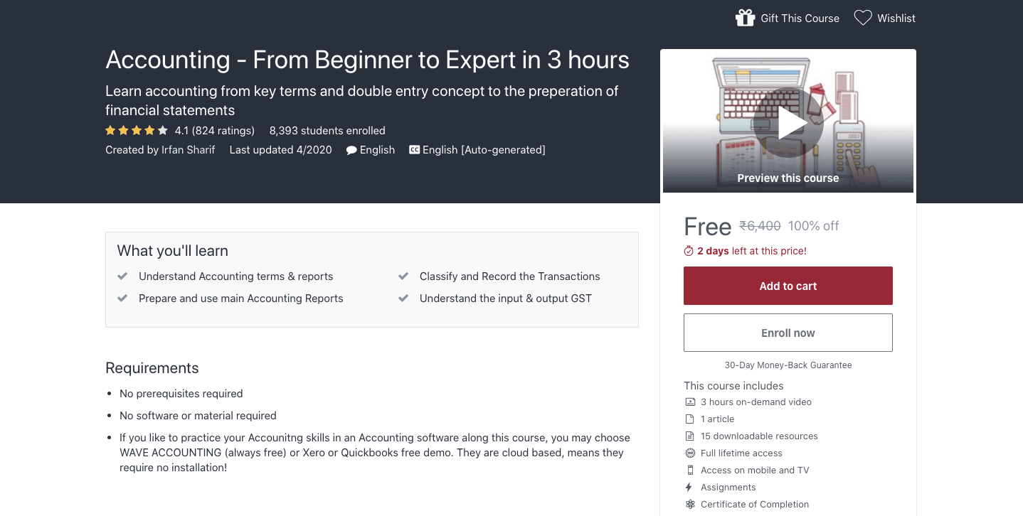 Accounting - From Beginner to Expert in 3 hours