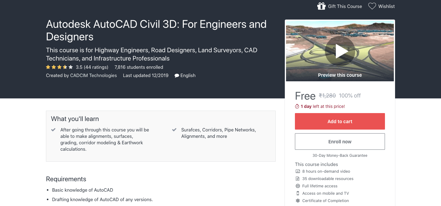Autodesk AutoCAD Civil 3D: For Engineers and Designers