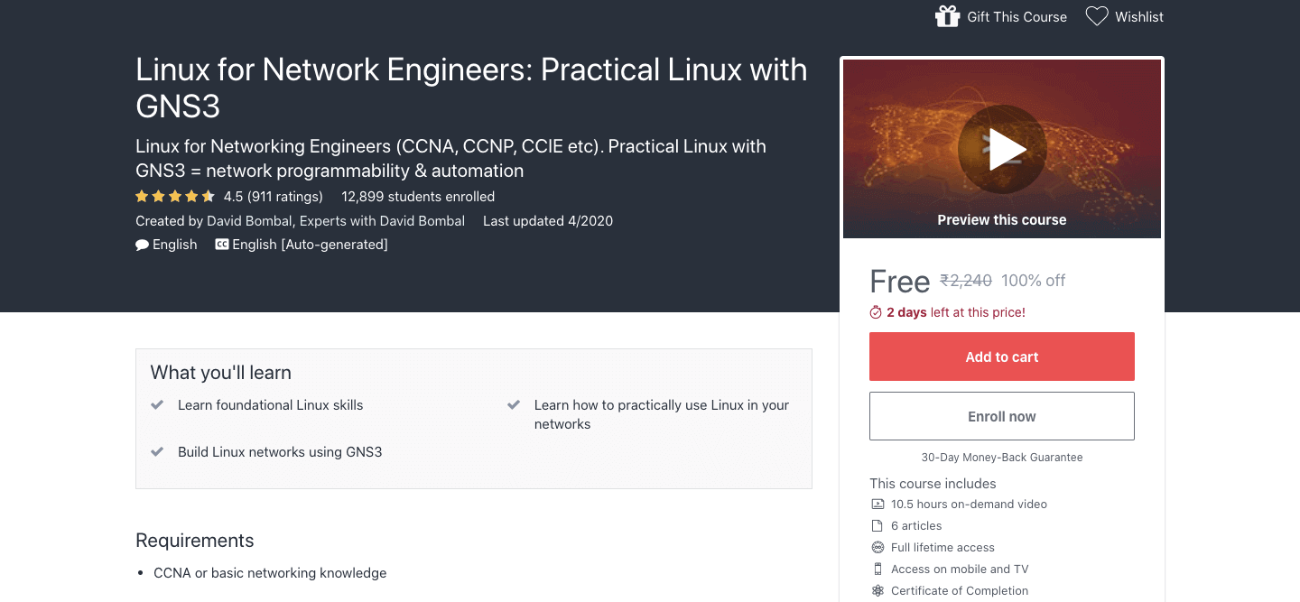 Linux for Network Engineers: Practical Linux with GNS3
