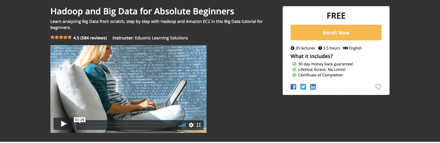 Hadoop and Big Data for Absolute Beginners