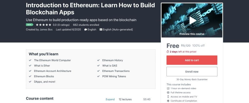 Introduction to Ethereum: Learn How to Build Blockchain Apps