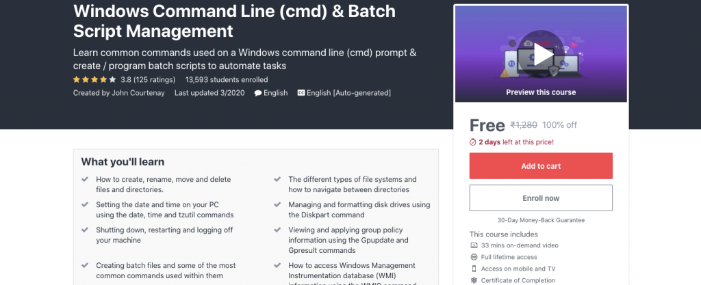 Windows Command Line (cmd) & Batch Script Management