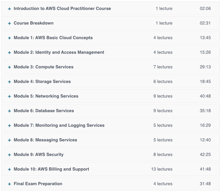 Pass the AWS Certified Cloud Practitioner exam.