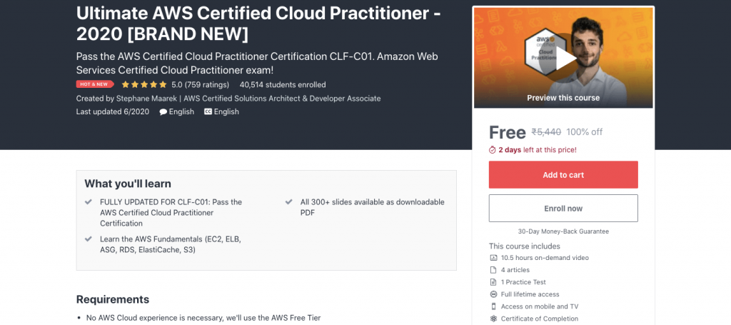 Ultimate AWS Certified Cloud Practitioner - 2020 [BRAND NEW]