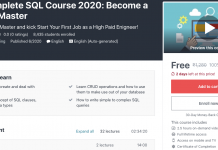 The Complete SQL Course 2020: Become a MYSQL Master