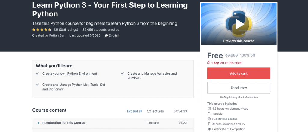Learn Python 3 - Your First Step to Learning Python