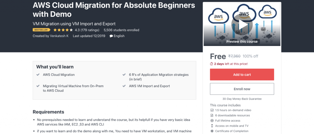 AWS Cloud Migration for Absolute Beginners with Demo