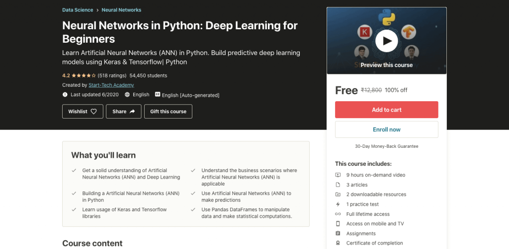 Neural Networks in Python: Deep Learning for Beginners