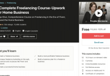 The Complete Freelancing Course-Upwork Fiverr Home Business