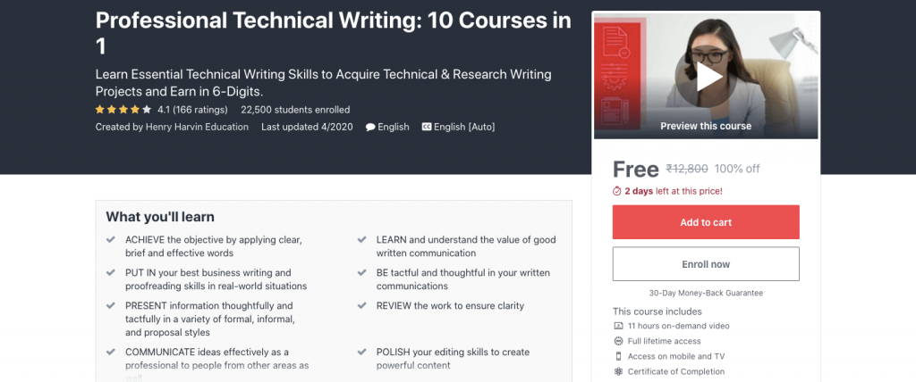 Professional Technical Writing: 10 Courses in 1