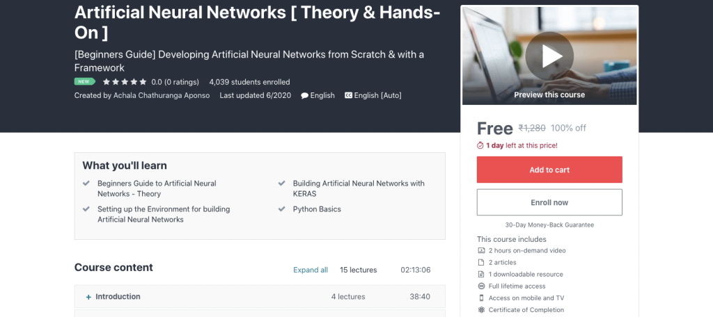 Artificial Neural Networks [ Theory & Hands-On ]