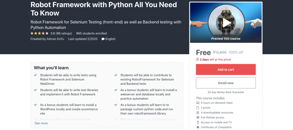 Robot Framework with Python All You Need To Know