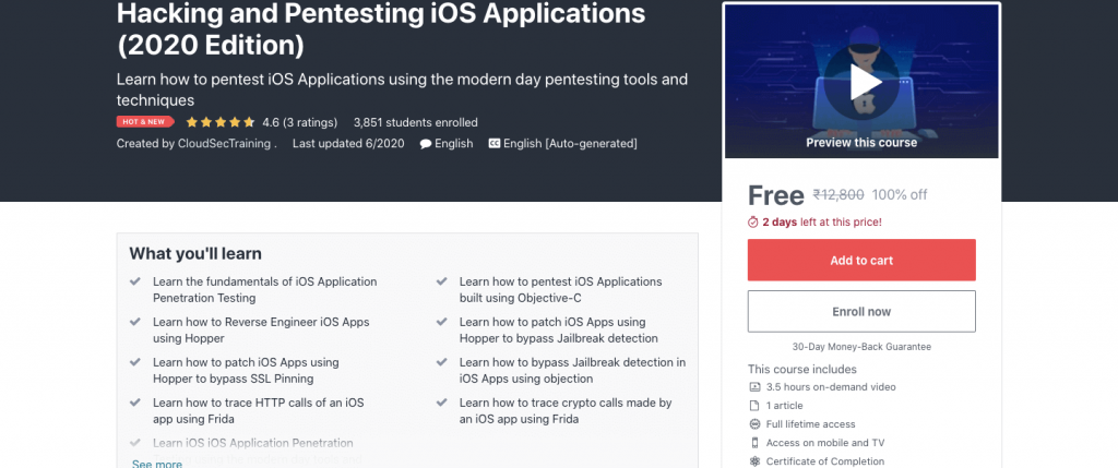 Hacking and Pentesting iOS Applications (2020 Edition)