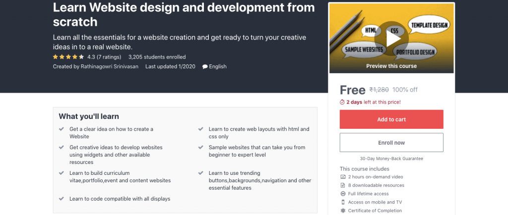 Learn Website design and development from scratch