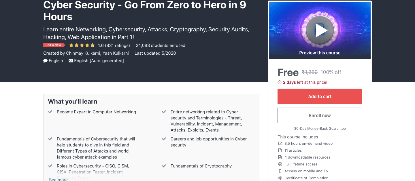 Cyber Security - Go From Zero to Hero in 9 Hours