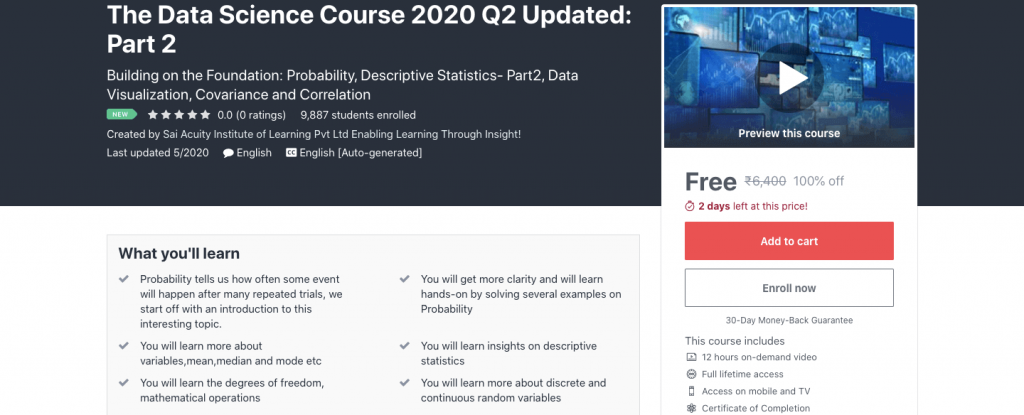 The Data Science Course 2020 Q2 Updated: Part 2