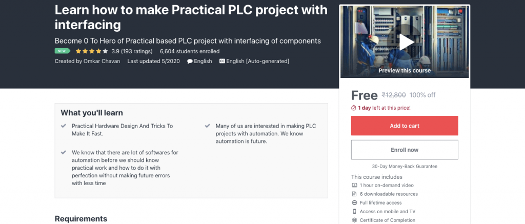 Learn how to make Practical PLC project with interfacing