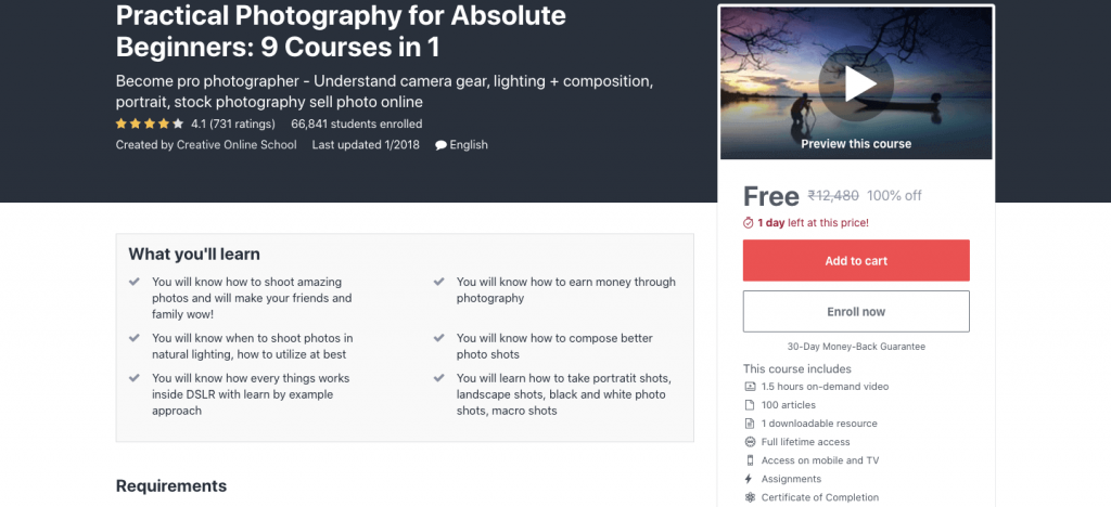 Practical Photography for Absolute Beginners: 9 Courses in 1