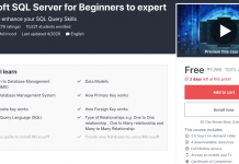 Microsoft SQL Server for Beginners to expert