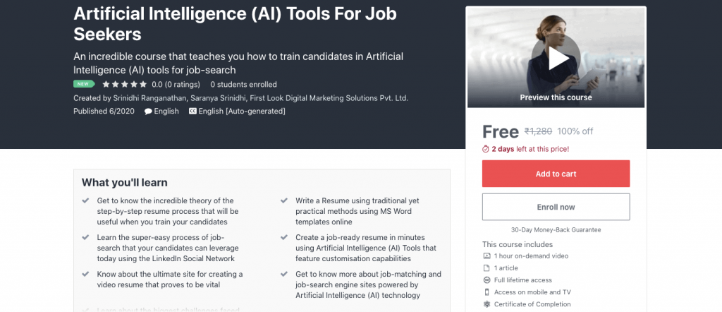 Artificial Intelligence (AI) Tools For Job Seekers