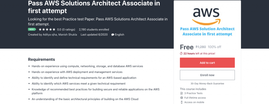 Pass AWS Solutions Architect Associate in first attempt