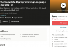 Dlang: The Complete D programming Language Course (Next C++)