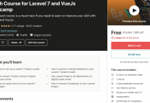 Crash Course for Laravel 7 and VueJs Bootcamp