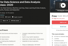 Python for Data Science and Data Analysis Masterclass: 2020