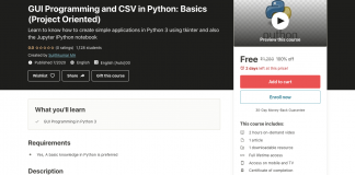 GUI Programming and CSV in Python: Basics (Project Oriented)