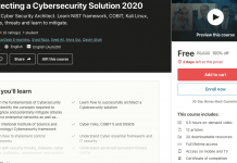 Architecting a Cybersecurity Solution 2020
