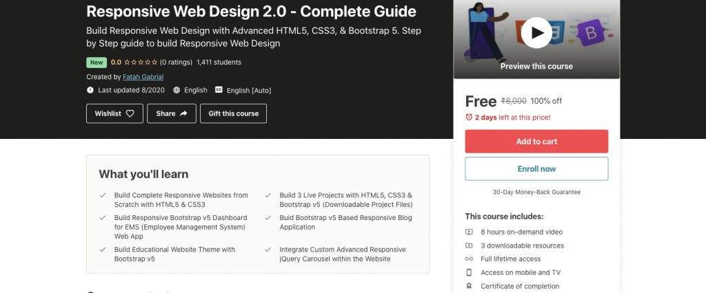 Free Responsive Web Design 2 0 Complete Guide Certification Course