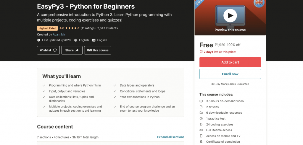 EasyPy3 - Python for Beginners