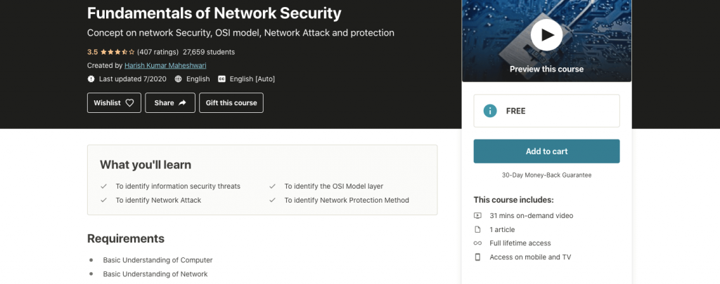 Fundamentals of Network Security