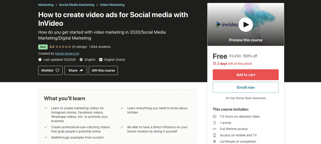 How to create video ads for Social media with InVideo